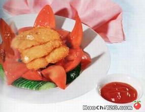 荷花吉利魚片